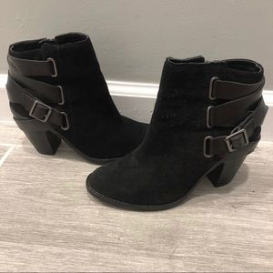 NBW Dolce Vita Black Suede Ankle Booties